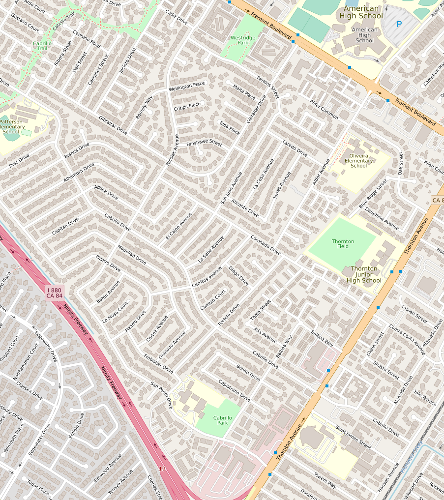 Daylight and MS Buildings map