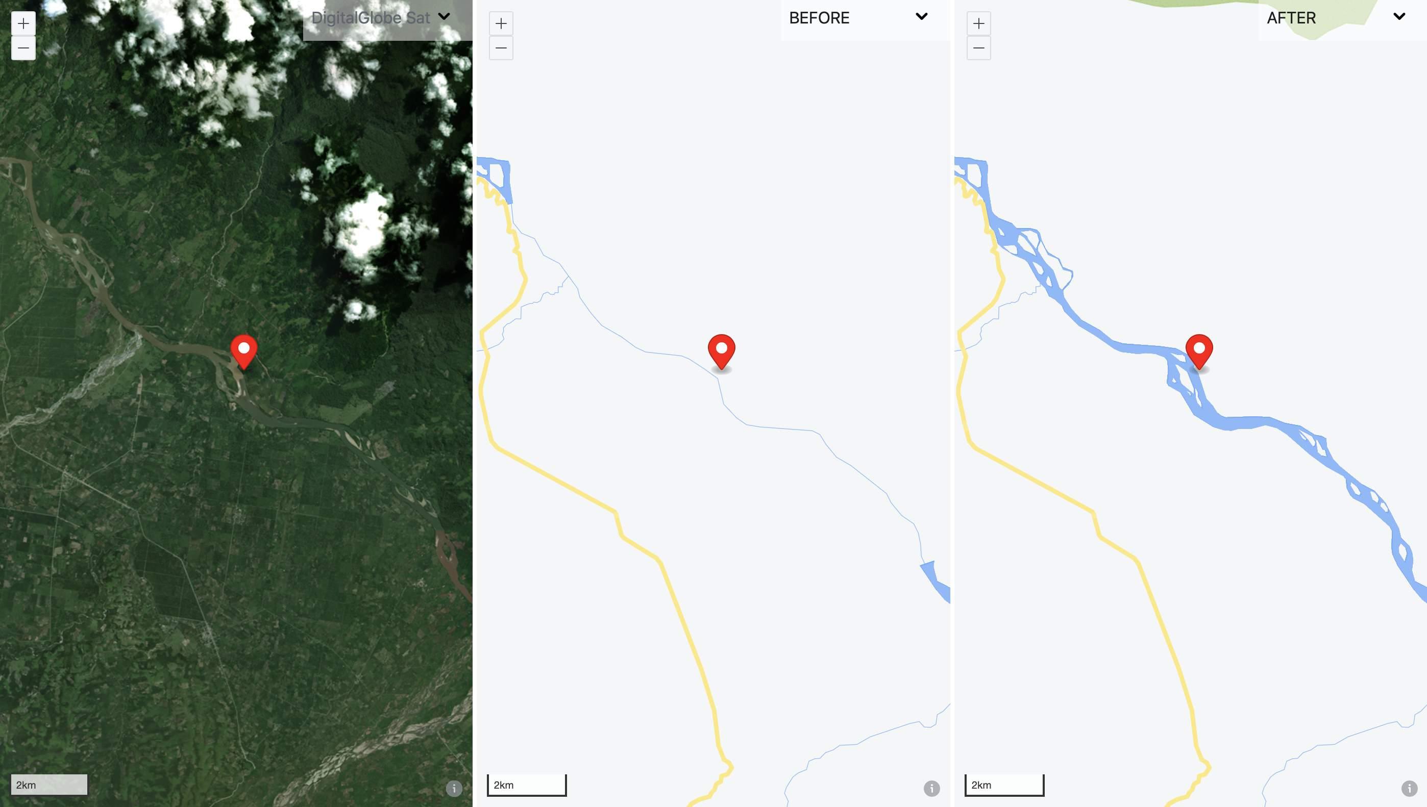 Represented the Rio Huallaga river area more accurately