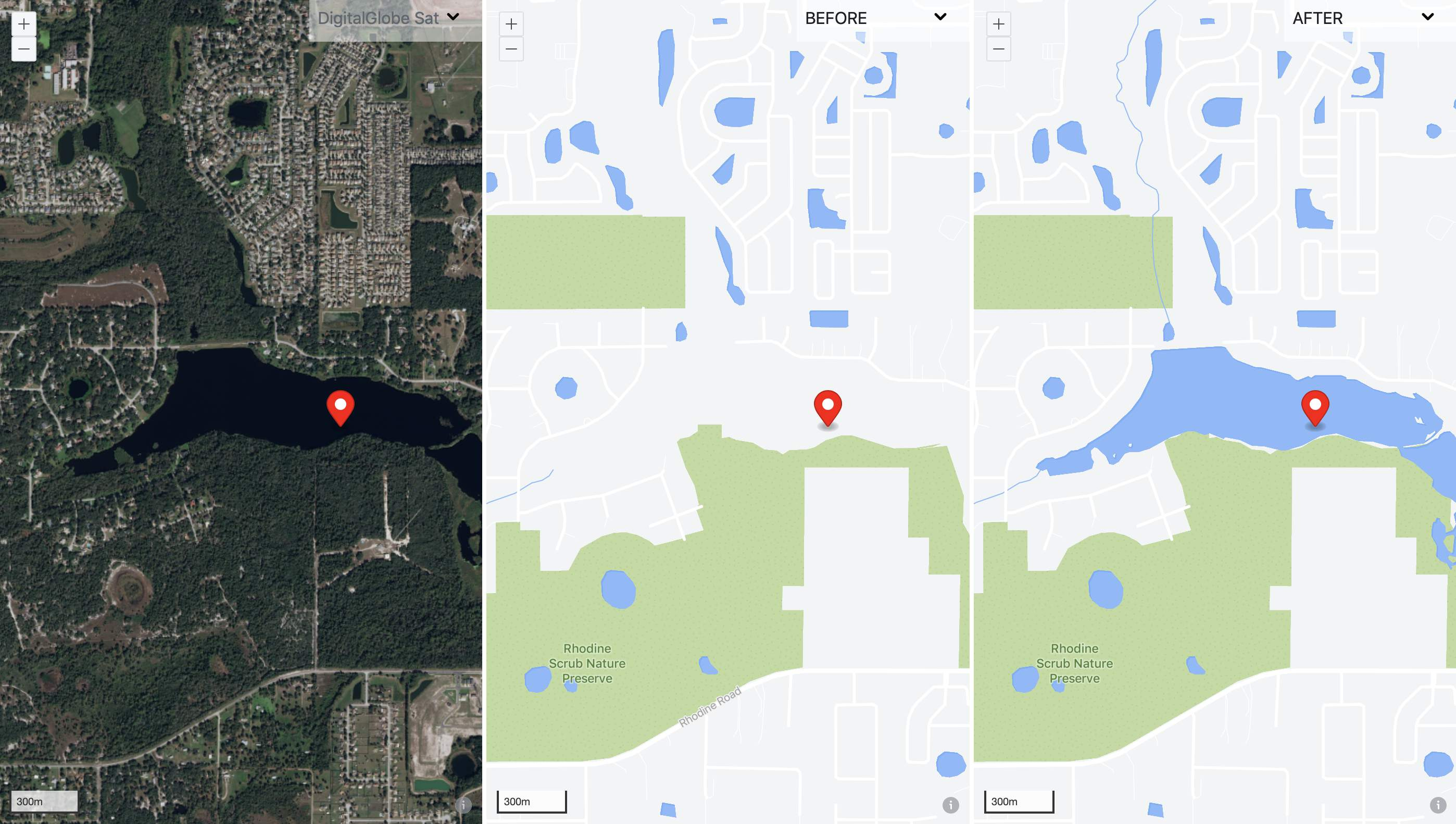 Found missing water body in Florida